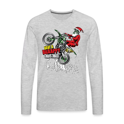 Braappy Christmas Santa - Men's Premium Long Sleeve T-Shirt