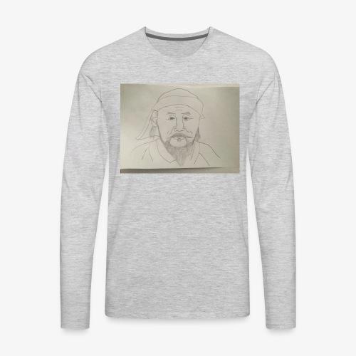 I'm Kublai khan, wait am I flat??? - Men's Premium Long Sleeve T-Shirt