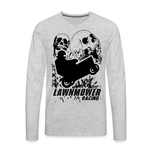 Lawnmower Race Cranial Scream - Men's Premium Long Sleeve T-Shirt