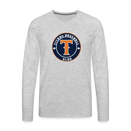 Titans Baseball Club Round Logo - Men's Premium Long Sleeve T-Shirt