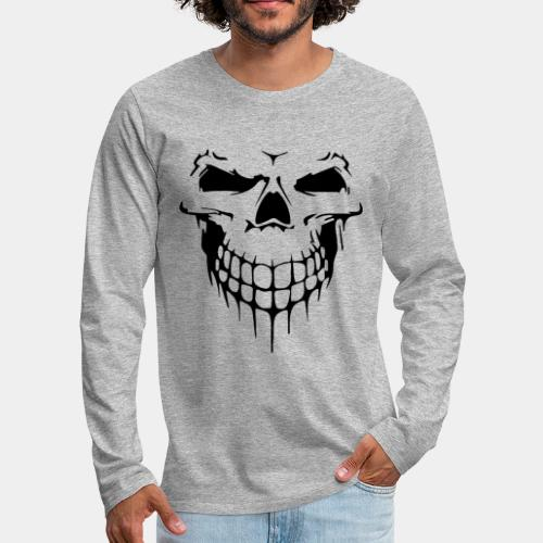 skull rock metal face - Men's Premium Long Sleeve T-Shirt