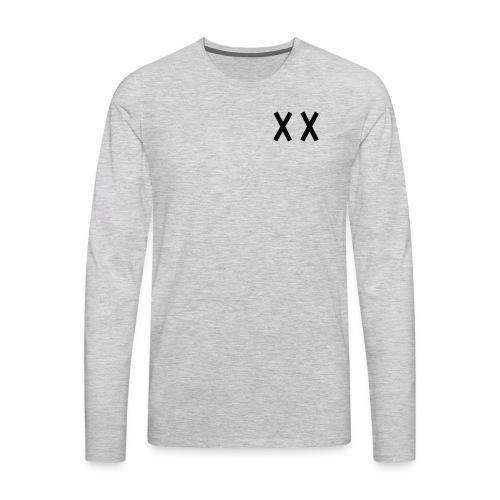 MKI Black Logo with Grey/White - Men's Premium Long Sleeve T-Shirt