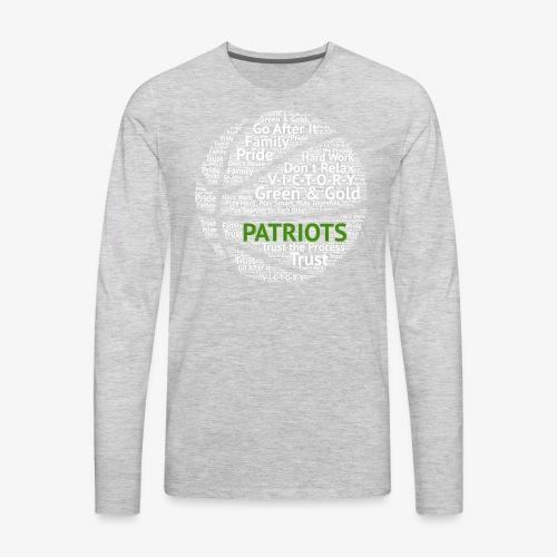 Pats Basketball White - Men's Premium Long Sleeve T-Shirt