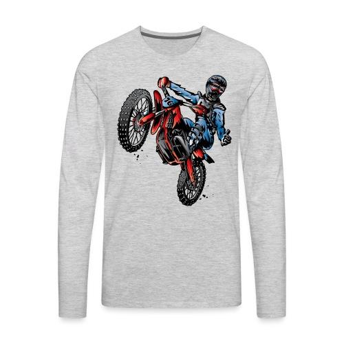Motocross Dirt Bike Stunt Rider - Men's Premium Long Sleeve T-Shirt