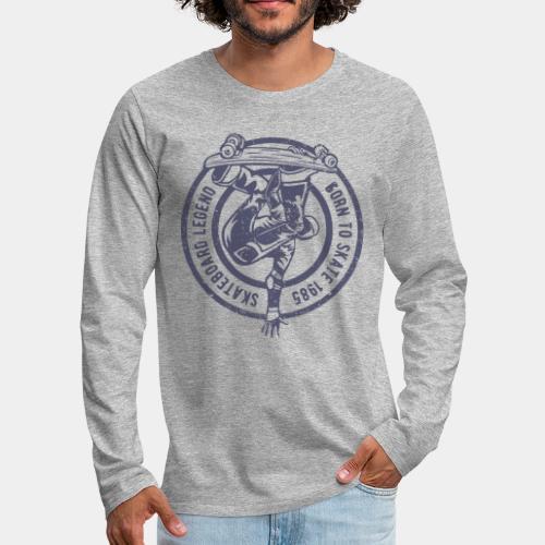 skateboard skate sk8 - Men's Premium Long Sleeve T-Shirt