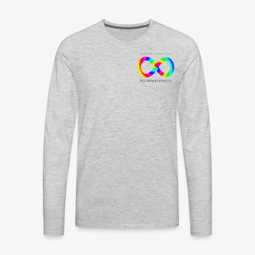 Embrace Neurodiversity with Swirl Rainbow - Men's Premium Long Sleeve T-Shirt