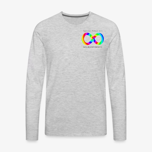 Embrace Neurodiversity with Swirl Rainbow - Men's Premium Long Sleeve T-Shirt