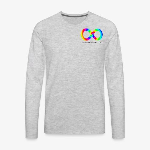 Neurodiversity with Rainbow swirl - Men's Premium Long Sleeve T-Shirt