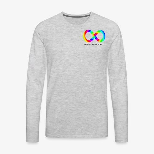 Neurodiversity with Rainbow swirl - Men's Premium Long Sleeve T-Shirt
