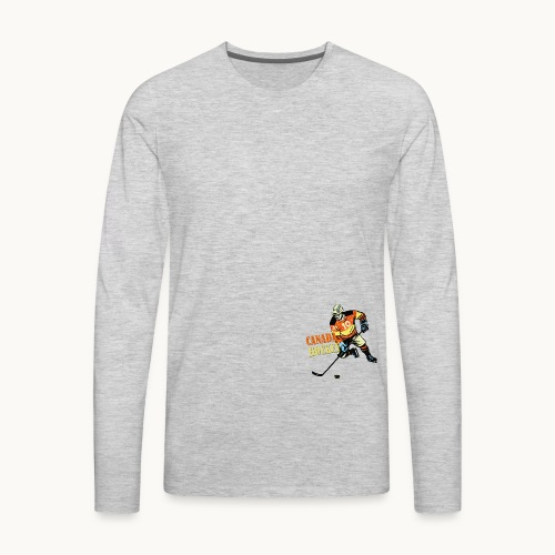 CANADA HOCKEY Carolyn Sandstrom THREADLESS - Men's Premium Long Sleeve T-Shirt
