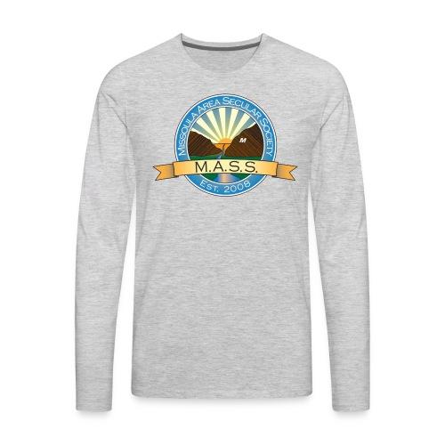 Missoula Area Secular Society Logo - Men's Premium Long Sleeve T-Shirt