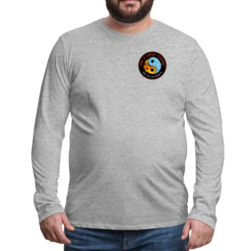 Fire & Water Cooking Small Left Chest Logo - Men's Premium Long Sleeve T-Shirt