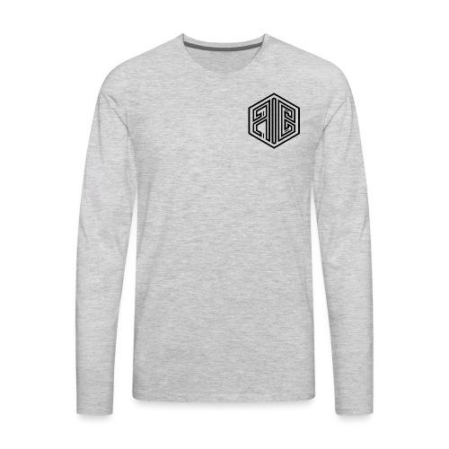 Whiteout // BLACK Brand Logo > WHITE - Men's Premium Long Sleeve T-Shirt