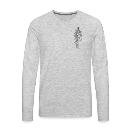 Grey Feather - Men's Premium Long Sleeve T-Shirt