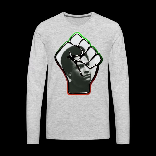 Huey Newton RBG Fist - Men's Premium Long Sleeve T-Shirt