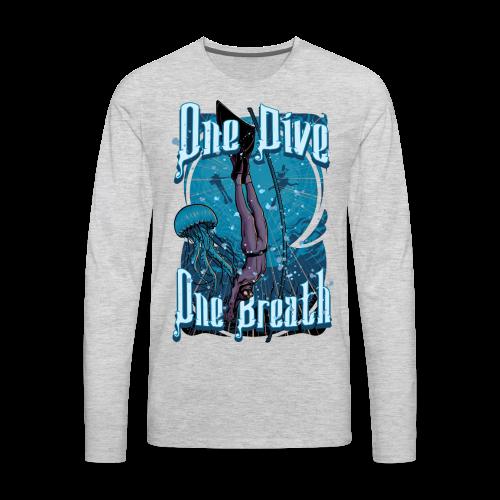 One Dive One Breath Freediving - Men's Premium Long Sleeve T-Shirt