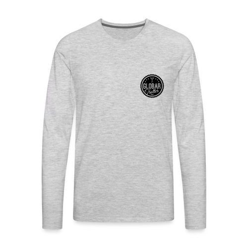Globar Trotter - Signature Logo - Men's Premium Long Sleeve T-Shirt