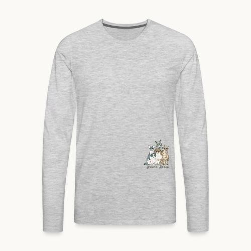 CATS - SENTIENT BEINGS - Carolyn Sandstrom - Men's Premium Long Sleeve T-Shirt