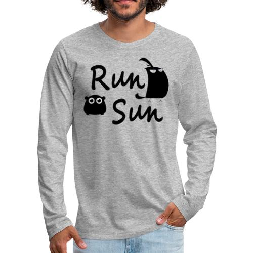 Run Sun Logo - Men's Premium Long Sleeve T-Shirt