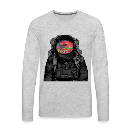 tripped out space man - Men's Premium Long Sleeve T-Shirt