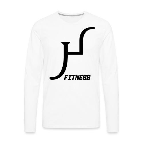 HIIT Life Fitness logo white - Men's Premium Long Sleeve T-Shirt