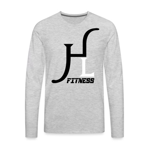 HIIT Life Fitness logo white - Men's Premium Long Sleeve T-Shirt