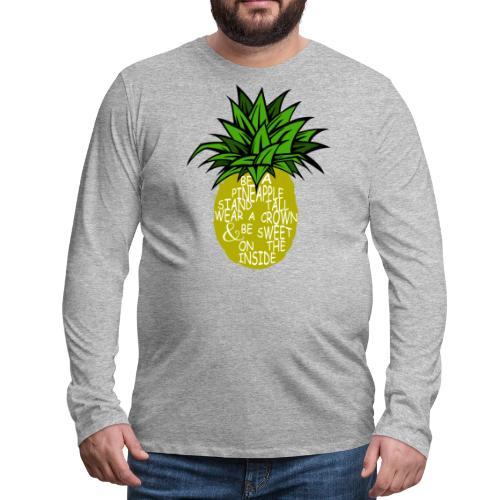 PineappleVer2 - Men's Premium Long Sleeve T-Shirt