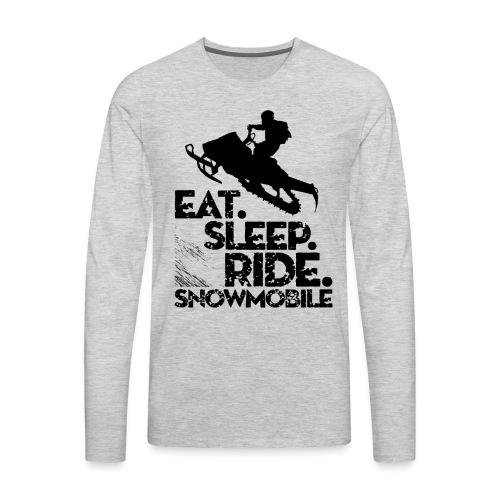 Snowmobiling Eat Sleep - Men's Premium Long Sleeve T-Shirt