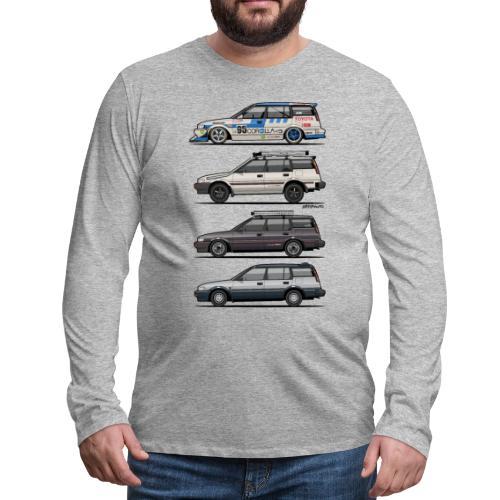 Stack of Toyota Corolla E90 - Men's Premium Long Sleeve T-Shirt