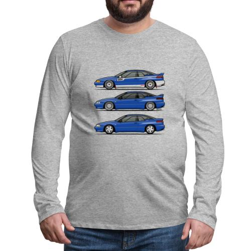 Subie Alcyone SVX Laguna Blue Pearl Trio - Men's Premium Long Sleeve T-Shirt