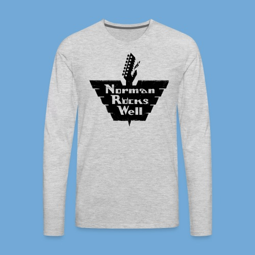 Norman Rocks Well logo in black. - Men's Premium Long Sleeve T-Shirt