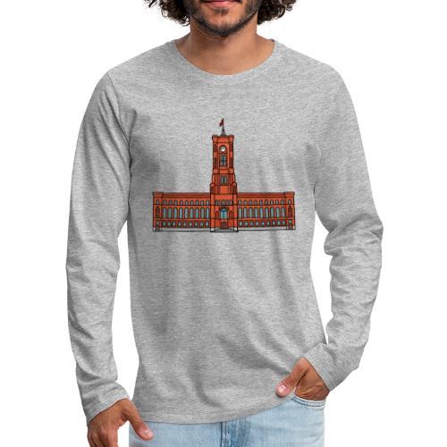 Red City Hall Berlin - Men's Premium Long Sleeve T-Shirt