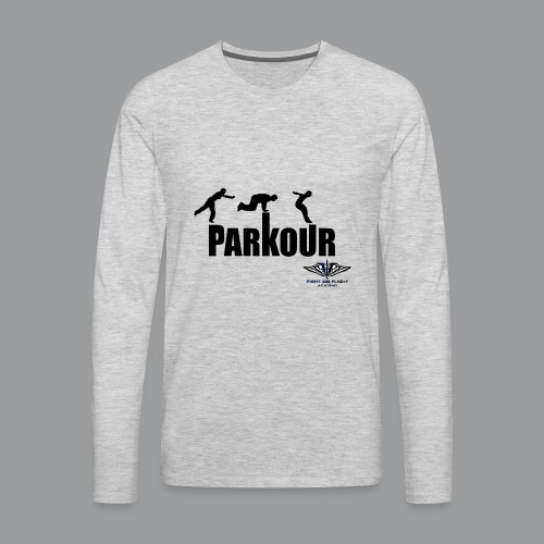 Parkour Text Kong Precision - Men's Premium Long Sleeve T-Shirt