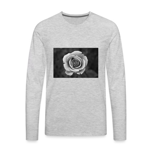 dark rose - Men's Premium Long Sleeve T-Shirt