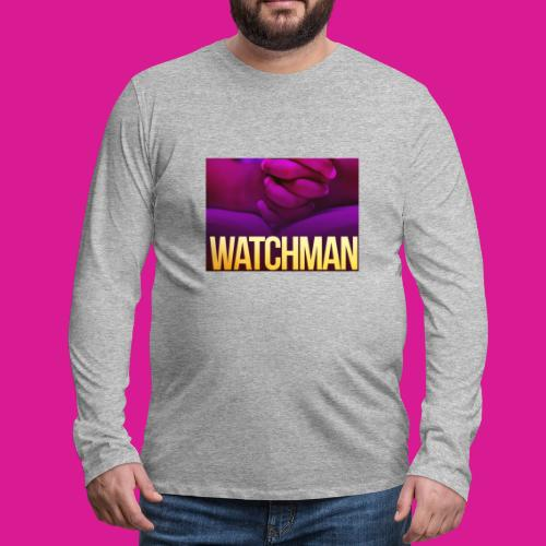Watchman design - Men's Premium Long Sleeve T-Shirt