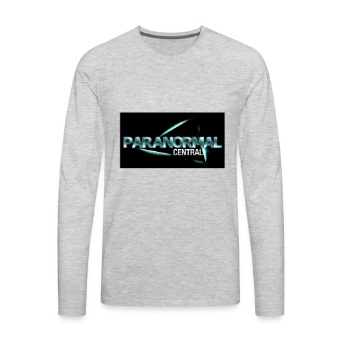 Paranormal Central On Black - Men's Premium Long Sleeve T-Shirt