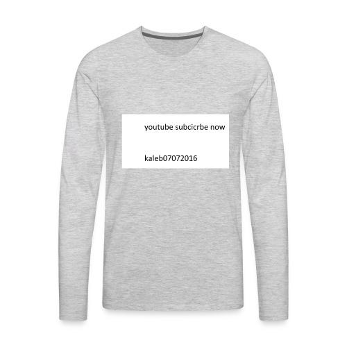 kaleb - Men's Premium Long Sleeve T-Shirt