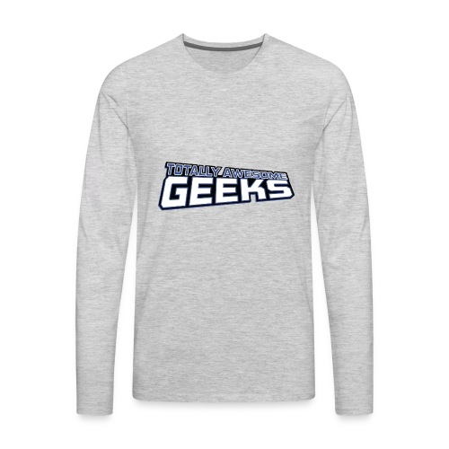 Logo For Totally Awesome Geeks - Men's Premium Long Sleeve T-Shirt