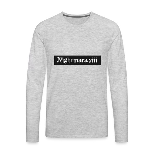 Nightmara logo written - Men's Premium Long Sleeve T-Shirt