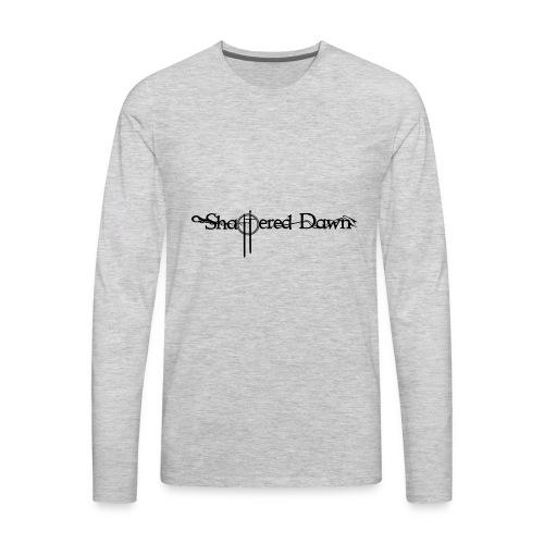Shattered Dawn Black Logo - Men's Premium Long Sleeve T-Shirt
