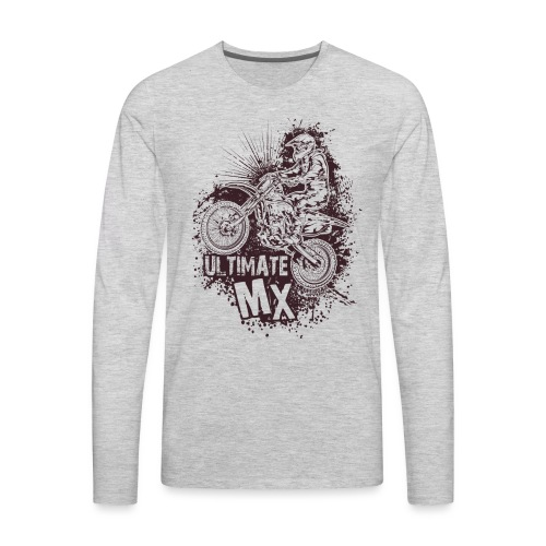 Ultimate FMX Grunge - Men's Premium Long Sleeve T-Shirt