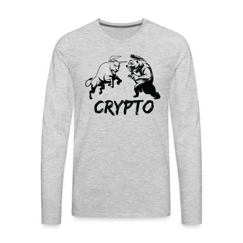 CryptoBattle Black - Men's Premium Long Sleeve T-Shirt