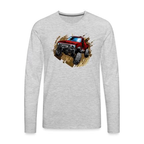 Muddy Red Truck - Men's Premium Long Sleeve T-Shirt