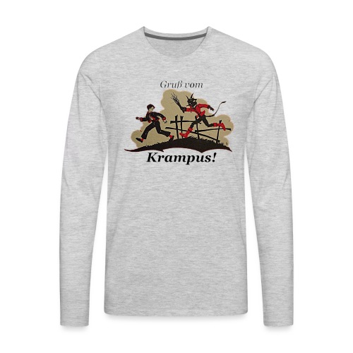 Gruss vom Krampus! - Men's Premium Long Sleeve T-Shirt