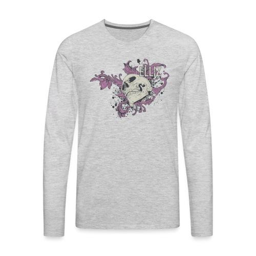Ornamental Skull Bandana - Men's Premium Long Sleeve T-Shirt