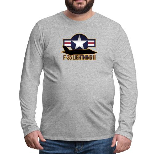 F-35 Lightning II - Men's Premium Long Sleeve T-Shirt