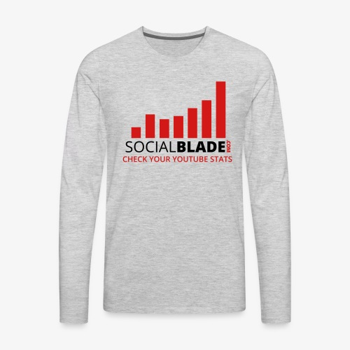 Traditional Logo Tagline - Men's Premium Long Sleeve T-Shirt
