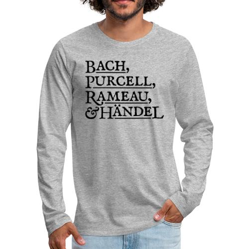 Fab Four of Early Music - Men's Premium Long Sleeve T-Shirt