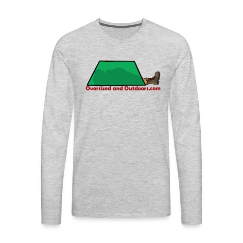 Oversized and Outdoors Logo - Men's Premium Long Sleeve T-Shirt