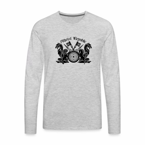 Atheist Republic Logo - Key Emblem - Men's Premium Long Sleeve T-Shirt